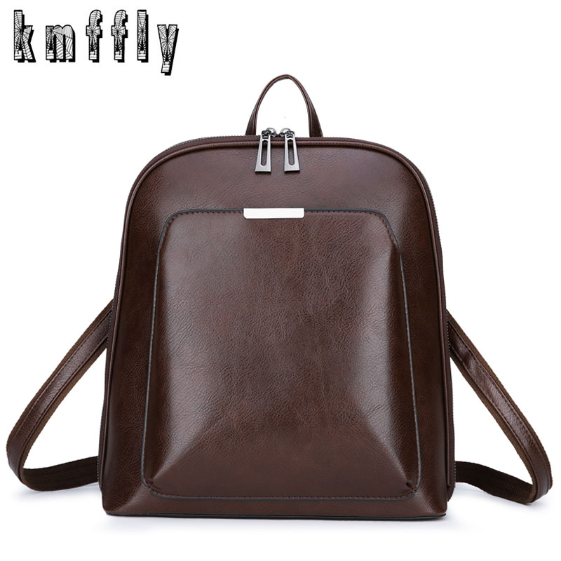 Vintage Backpack Famous Brand Leather Bag Woman Back Pack Backpacks For Teenage Girls Mochilas Mujer Luxury School Bags