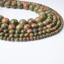 LIngXiang fashion natural Jewelry 4/6/8/10/12mm multicolor unakite loose beads DIY Men and women bracelet necklace Accessories
