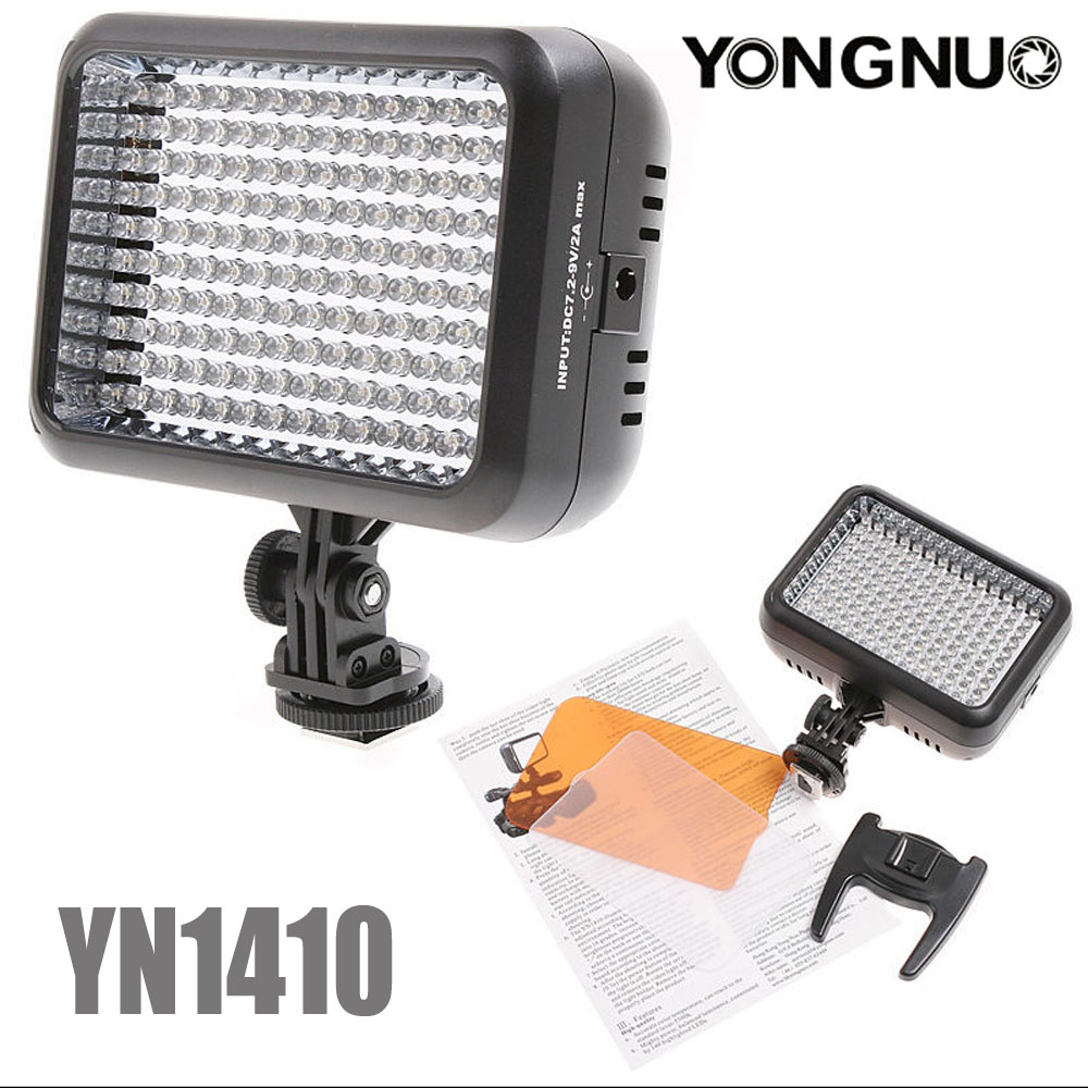 YONGNUO YN1410 YN-1410 LED Studio Video Light Lamp with 5500K Color Temperature and Adjustable Brightness for the SLR Cameras new arrival viltrox ll 126vt led adjustable brightness flashing led 4 5w for digital video camcorders cameras
