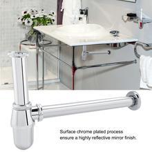Siphon Drainer Bottle Trap Zinc Alloy Basin Water Drain Pipe Drainage Bathroom Basin Tube Sink Plumbing Tube Round Bottle Trap