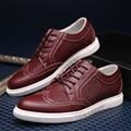 2016 Moda hombre Bullock zapatos de negocios de cuero genuino mocasines joker casual shoes calzado de Hombre zapatos oxford