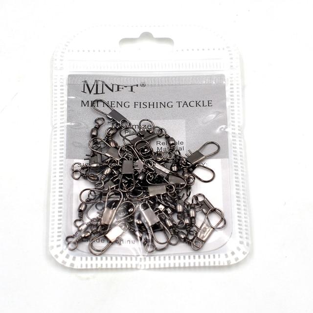 MNFT 200PCS Brass Swivel Pin Fishing Connector Interlock Snap Fish Tackle Barrel Swivel With Safty Snap|swivel pin|swivel connectorswivels interlock snap -