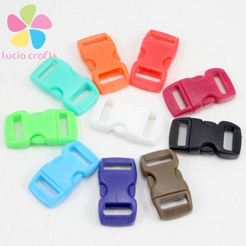 6pcs 10pcs 11mm plastic contoured side release buckles clasps for paracord bracelet backpacks clothes bags decor