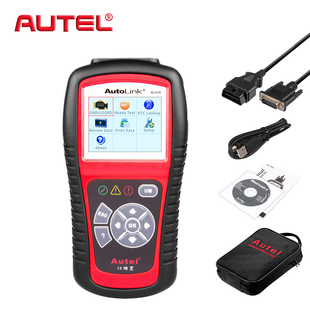 все цены на Autel Original Car Diagnostic Tool OBD2 Automotive Scanner AL519 OBD 2 EOBD Fault Code Reader Scan Tools Escaner Automotriz