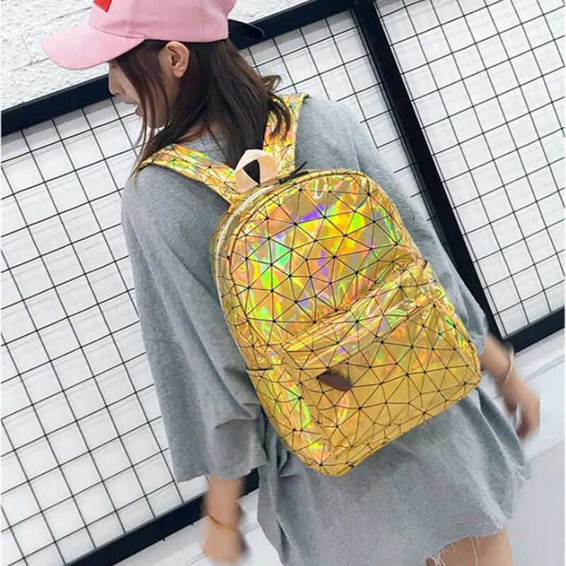 HTB1pnZ9XiHrK1Rjy0Flq6AsaFXai Large Travel Bags Laser Backpack Women Men Girls Bag PU Leather Holographic Backpack School Bags for Teenage Girls fashion bag