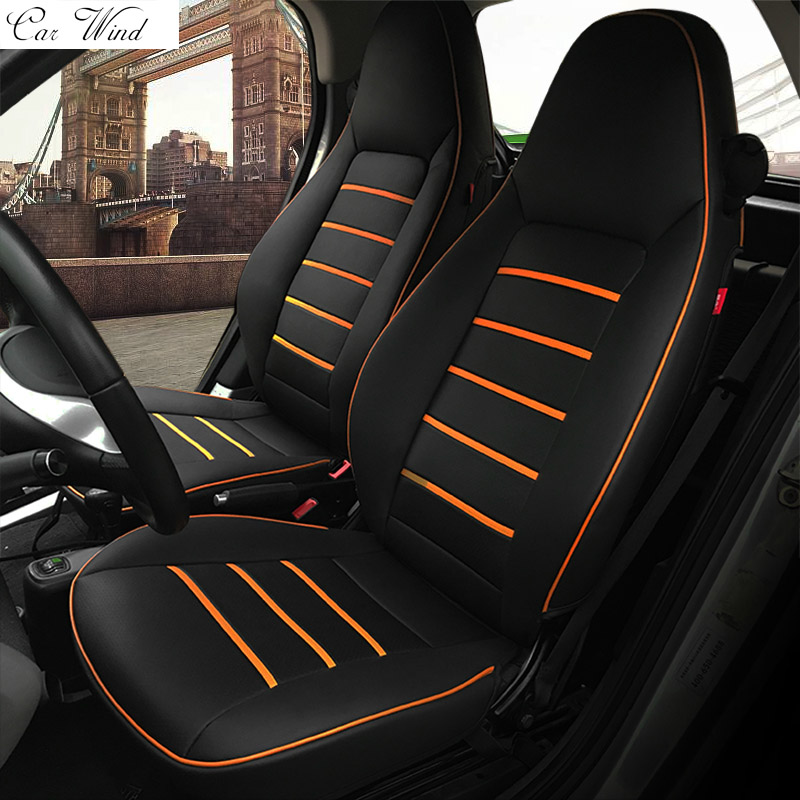 car wind pu leather car seat covers for Mercedes-Benz Smart fortwo 2010~2017 Smart forfour seat covers for car car accessories цена