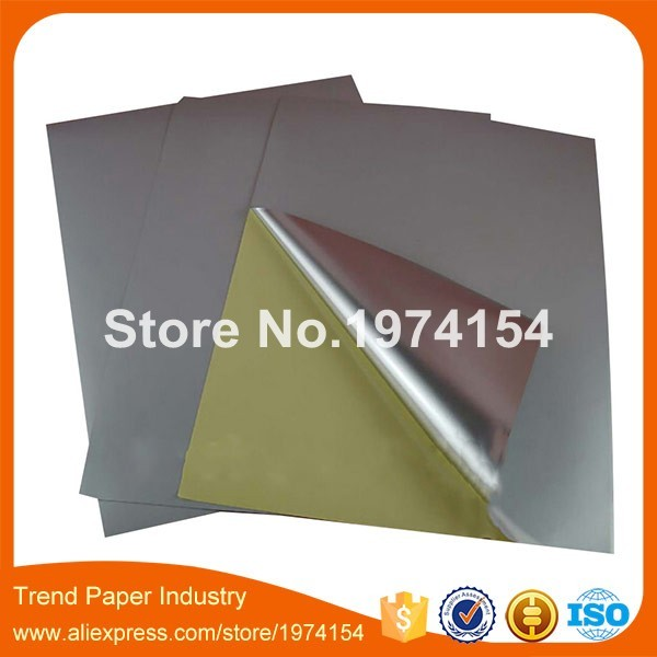 400 Sheets A4 Blank Waterproof Silver Vinyl Label for laser printer a4 matte label 210mmx297mm NEW SPECIAL MATERIAL