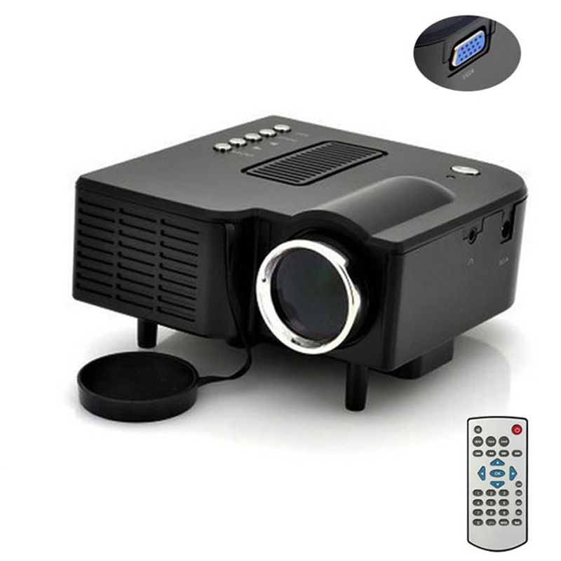 UC28+1080P HD Multimedia Portable mini LED Projector projecteur Home Theater HDMI VGA AV USB SD lamp Remote Control proyector brand new uc28 portable micro led mini projector hd multimedia home cinema theater support hdmi vga av usb sd project 1080p