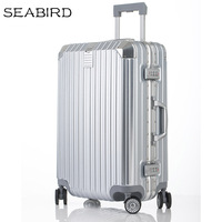 SEABIRD 20242629 inch Aluminum frame Rolling Luggage Travel Trolley Bag mala de viagem with Spinner Wheels