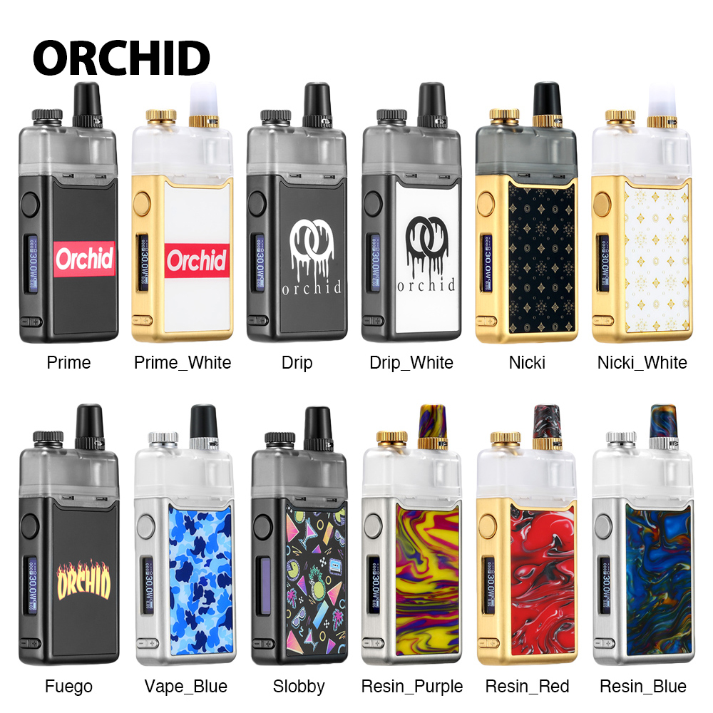 New Heavengifts Orchid IQS Pod Kit with 950mAh Built in Battery 3ml Orchid IQS Pod for