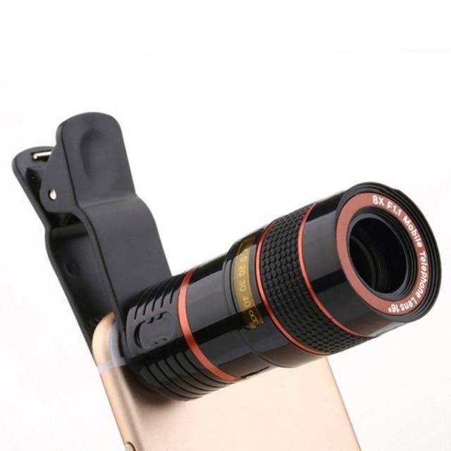 7a9c822d32b00d 8X Universal Mobile Phone Zoom Lens Telephoto Lens for iPhone Samsung  Smartphones Lentes Long Focus Monocular