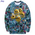 [Amy] 2015 Hot model Europe and America Popular Five cute cartoon expression 3D sweatshirts Men hoodies casual sweatshirt WY04