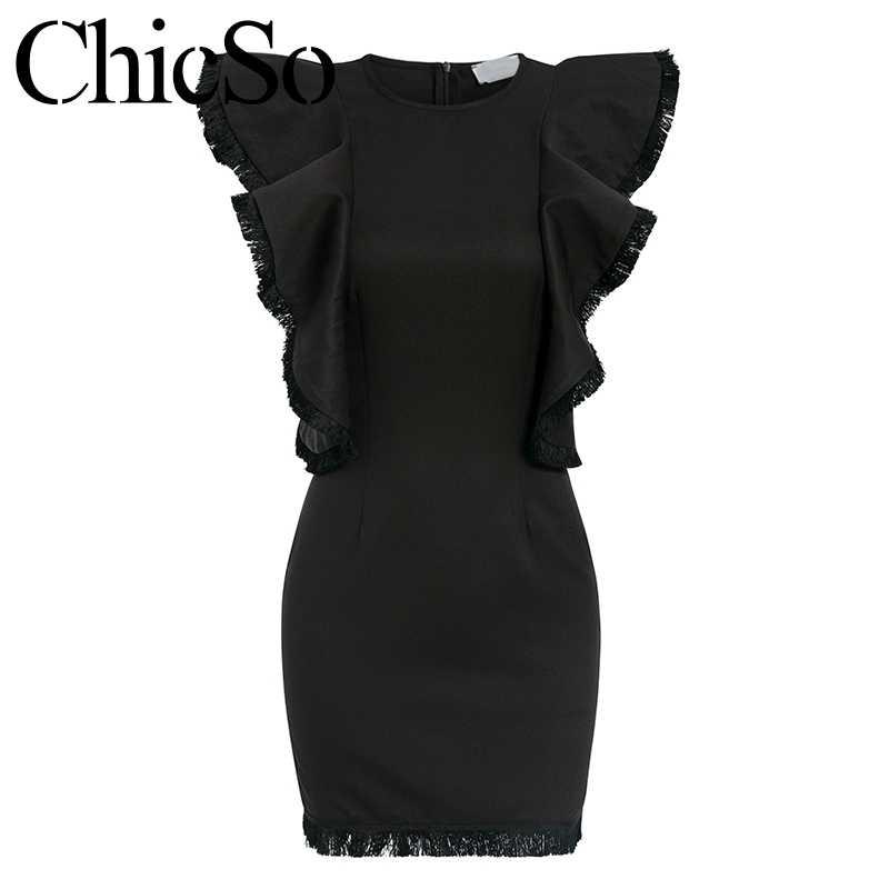 MissyChilli сексуальное черное платье Летнее облегающее платье черное Плиссированное мини-платье с бахромой элегантные женские вечерние женские короткое платье Модная одежда