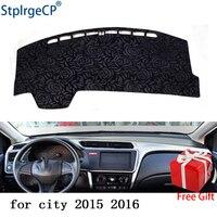 Latest Rose Pattern Non slip Car Dashboard Cover Dash Mat Pad DashMat ANti UV Car Sticker for Honda city 2015 2018 Car Styling