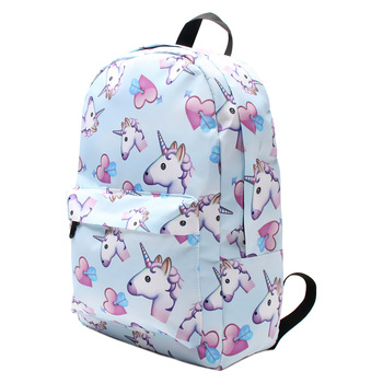 3D Printing Heart Unicorn Shoulder Bag for Girls School