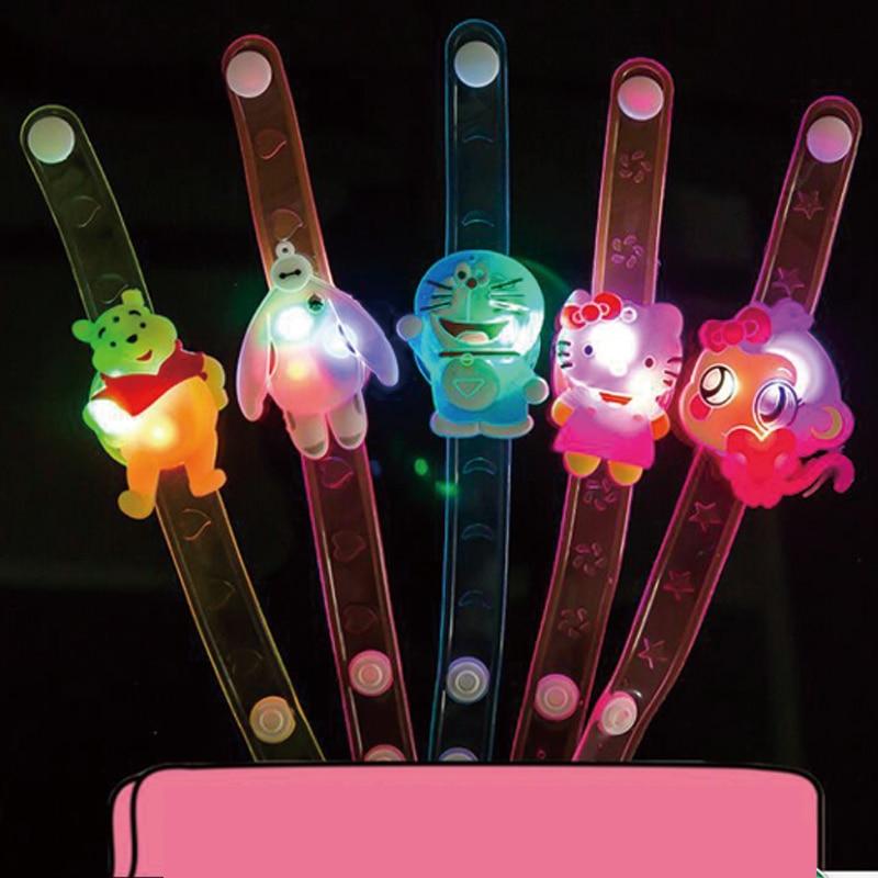 20pcs/lot Soft jelly flower cartoon led bracelet tos