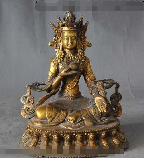 free shipping S5261 6tibet tibetan buddhism fane bronze gilt Amitayus Bodhisattva buddha statue tibet buddhism copper bronze green tara guan yin boddhisattva buddha god statue
