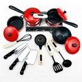 O envio gratuito de new red talheres 13 peças do bebê play house simulação talheres/primeira infância toys para utensílios de cozinha