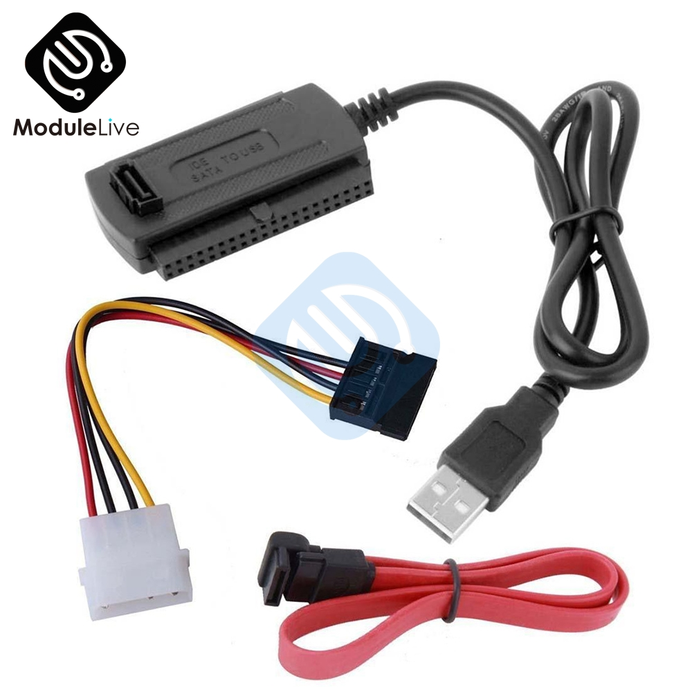 SATA/PATA/IDE Drive To USB 2.0 Adapter Converter Cable For 2.5 / 3.5 Inch Hard Drive Hot Worldwide Wholesale