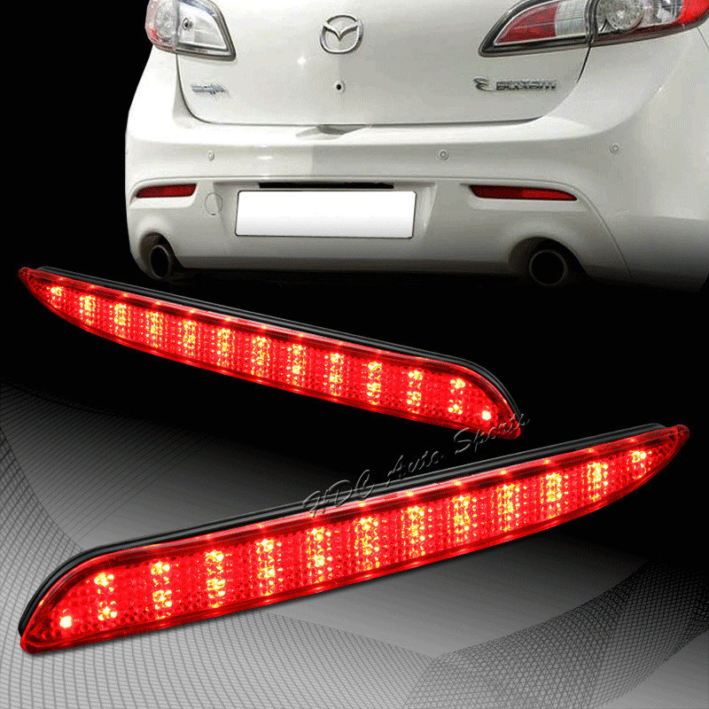 CYAN SOIL BAY 2010-2013 For Mazda 3 MAZDASPEED3 Axela Sport Red Lens Red LED Rear Bumper Reflector Brake Light Lamps p80 panasonic happy shopping intact air plasma cutter torch torch head body straigh machine 4 meter