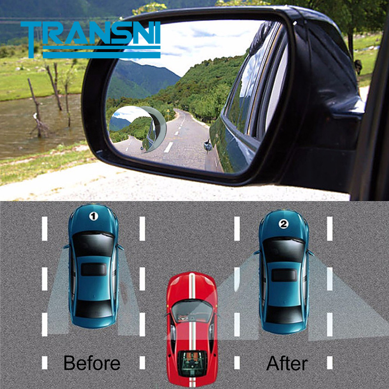 Car Auto Rearview Mirror HD 360 Degree Small Round Wide Angle Blind Spot Convex Mirror for Car Truck Universal Accessories