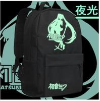 High Q Unisex Anime VOCALOID V Hatsune Miku Backpacks Preppy School students Hatsune Miku backpack Casual cosplay travel bags