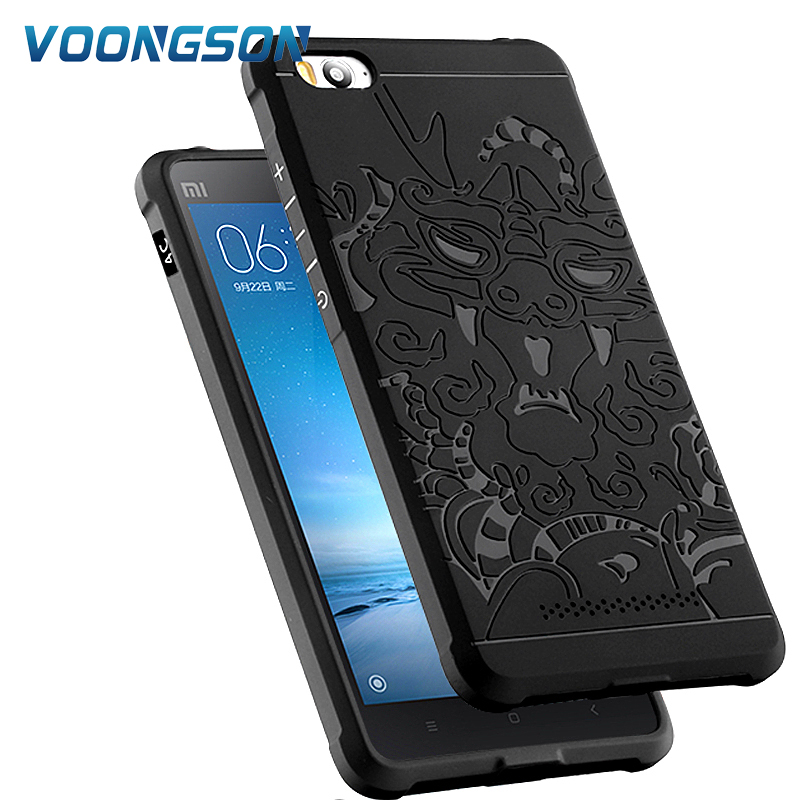 Xiaomi Mi4C Mi4i Case Mi 8 SE 6X A2 Poco F1 Soft Silicone Cover Matte 3D Dragon Phone Coque Fundas Redmi 5 Plus S2 Note 6 Pro