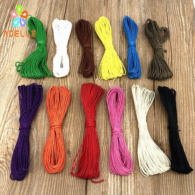 2 rolls/lot 0.5mm Colored Original Polishing waxed hemp cord  DIY zakka string bracelet necklace free shipping 12 colors