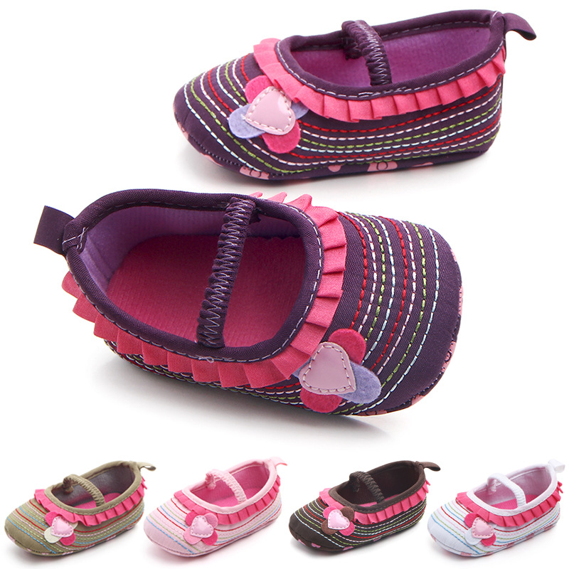 wholesale Hot sale New Floral Baby girls shoes First walkers Baby moccasins shoes Anti-slip crib prewalkers shoes