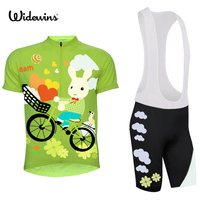 girl Pro team cycling jersey summer Bicycle maillot breathable MTB Short sleeve quick dry bike cloth Cycling rabbit 7082