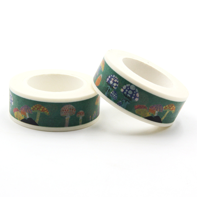 1 PCS Cute Colorful Mushrooms Washi Tape Children Like DIY Diary Decoration Masking Tape Stationery Scrapbooking Tools city series 1 5 cm and 3 cm washi tape children like diy diary decoration masking tape stationery scrapbooking tools
