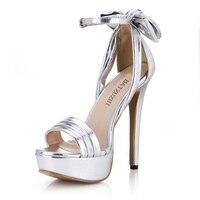 Batzuzhi Luxusmarke Design Sexy 14 cm Frauen High Heel Schuhe Schnalle Silber/Gold Plattform Frauen Sommer Party hochzeit Schuhe