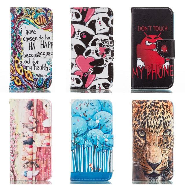 S4 Mini Print PU Leather Case For Samsung Galaxy S4 Mini i9190 i9195 i9192 GT-i9190 GT-i9195 GT-i9192 Flip Wallet Mobile Cove
