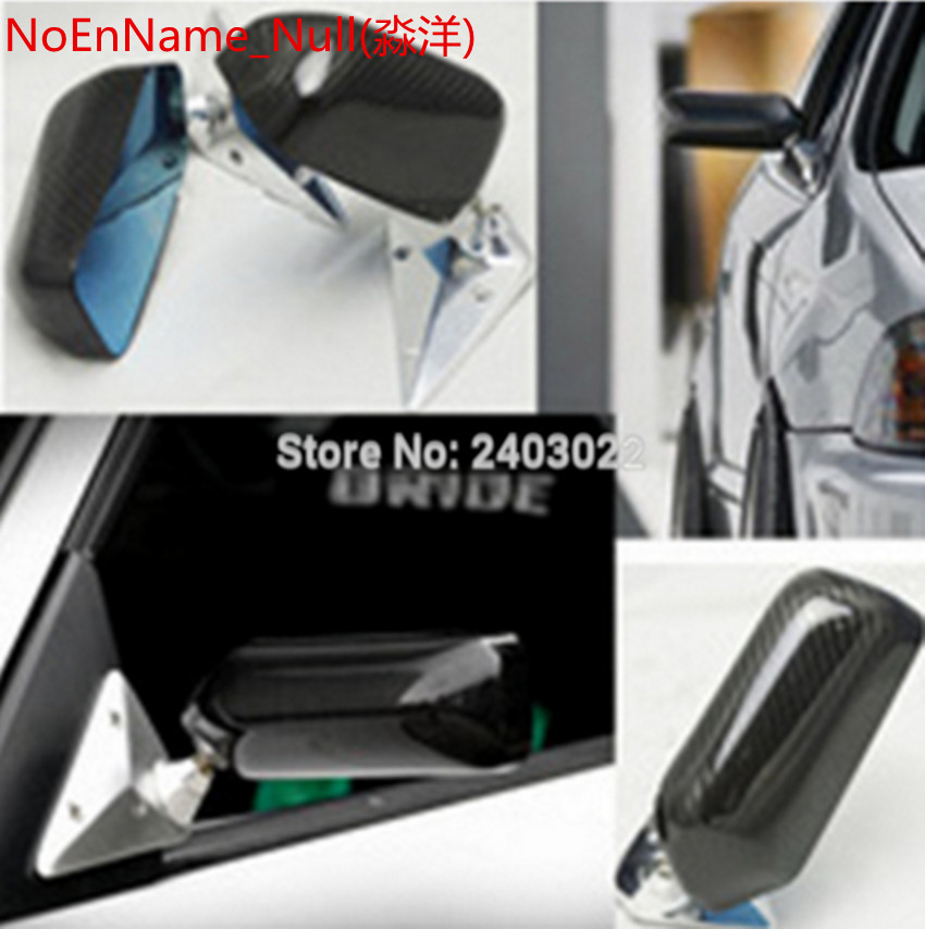 Top racing sport F1 blue carbon mirror for Front triangle Opel Astra h gtc/j 2003 2009 2010 2011 2012 2013 2014 not origin
