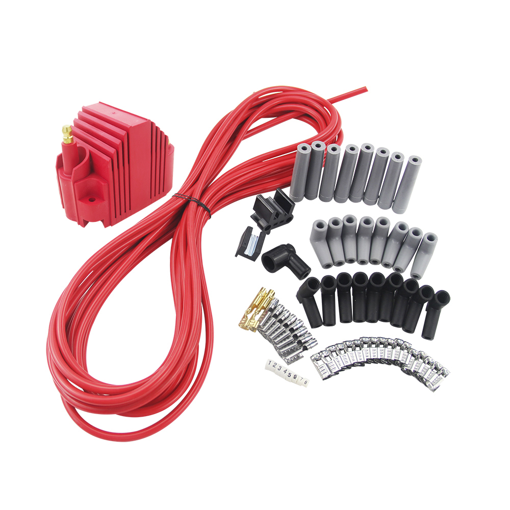 Chevy V6 38l 43l 65k Coil Hei Electronic Distributor Red Cap