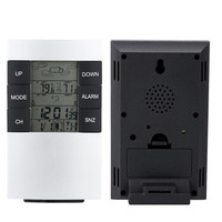 Wireless Digital Weather Station Forecast Dual Alarm Clock Outdoor Temperature Thermometer Humidity Moisture Meter