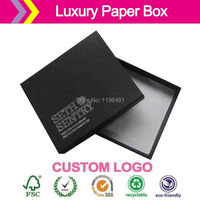 Customized logo imprinted! shipping! high quantity Cover and tray Jewelry full telescope lid and base box 20x6x11cm