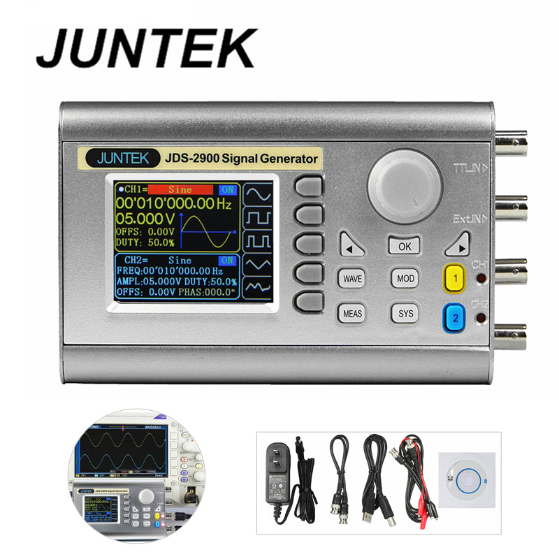 JUNTEK JDS2900-50M 50MHZ Signal Generator Digital Control Dual-channel DDS Function Signal Generator frequency meter 40%Off 5032 osc 50m 50mhz 50 000mhz sg5032can