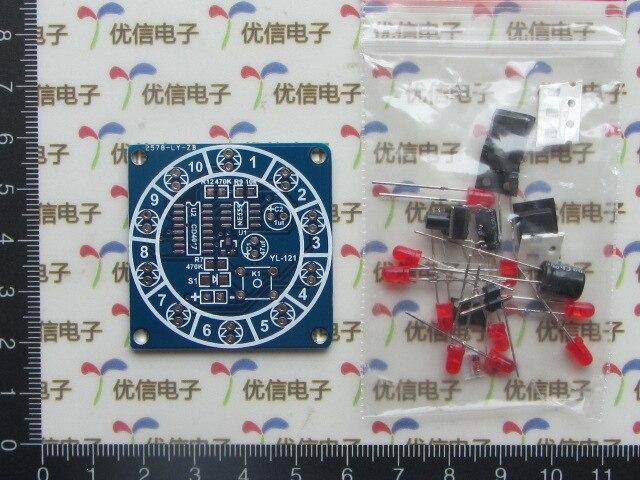 2pcs Electronic Wheel Of Fortune Kit / Parts Making Training Fun DIY Kit Electronic Dice Parts Kit