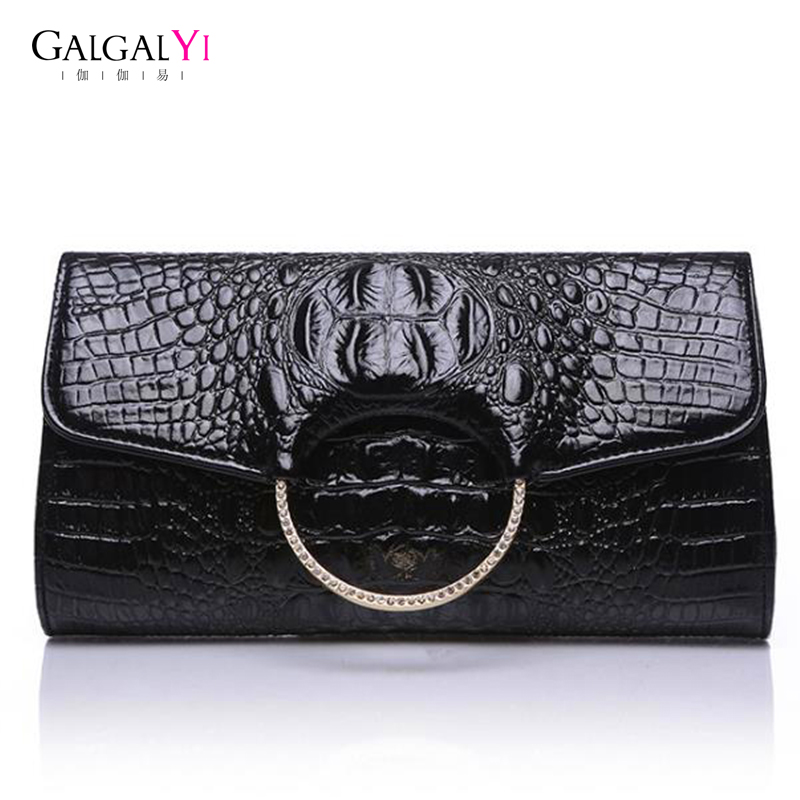 2018 Simple Vintage Women Clutches Bags Genuine Leather Shoulder Handbag For Fashion Female Envelope Evening Bag Black Handbag