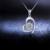 DOUBLE-R Amor Coração Pingentes de Jóias Finas para Mulheres 18 K White Gold CAP03406KA 0.138ct Diamante Com Pingentes de Colares de Prata