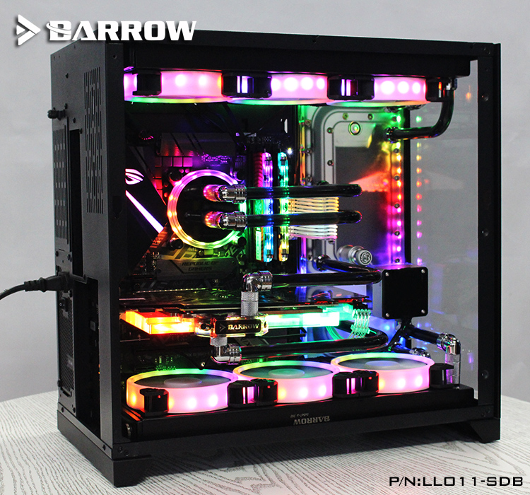 US $123 0  Barrow Acrylic Board as Water Channel use for LIAN LI O11  Dynamic Computer Case for Both CPU and GPU Block RGB 5V 3PIN Waterway-in  Fans &