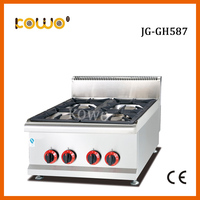 Коммерческие нержавеющая сталь 4 горелки СНГ газовая плита столешницы газовая плита кухонная техника