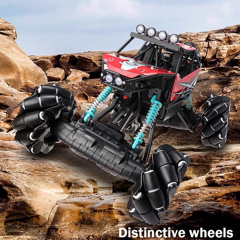 1:12 2.4G RC Car with Mecanum Wheel 4WD Drift Climbing Remote Control Stunt Car Deformation Offroad Vehicle Toy VS RoboMaster S1 image