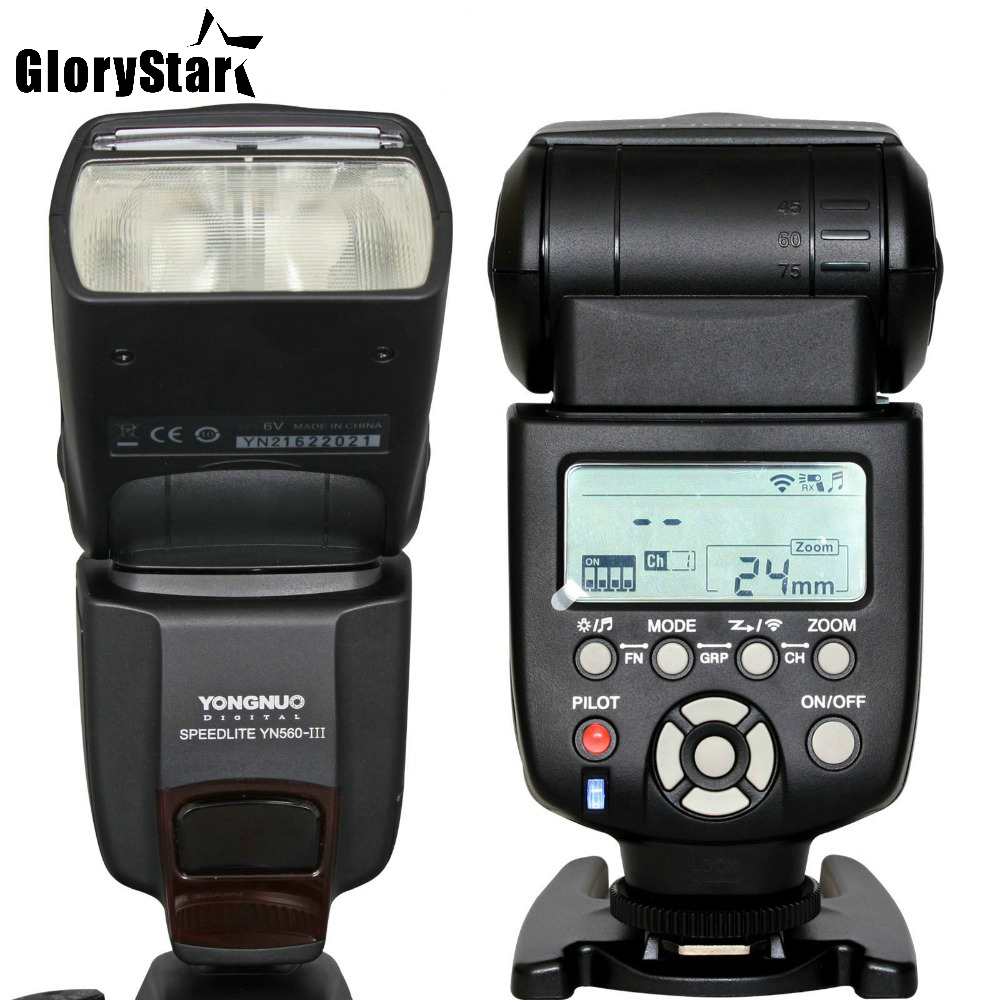 Glory Star YN-560III Professional Flash Speedlight Flashlight Yongnuo YN 560 III for Canon Nikon Pentax Olympus CameraGlory Star YN-560III Professional Flash Speedlight Flashlight Yongnuo YN 560 III for Canon Nikon Pentax Olympus Camera