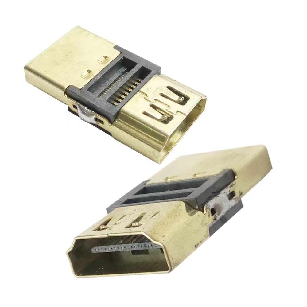 DIY HDTV 4.1 F/F HDMI Female Coupler Extender Adapter To HDMI Female Plug For 1080P HDMI Cable Extension Connector Converter