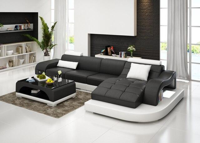 G8009D projeto Da Casa conjunto de sofá, sofá de couro conjunto de luxo de estilo simples