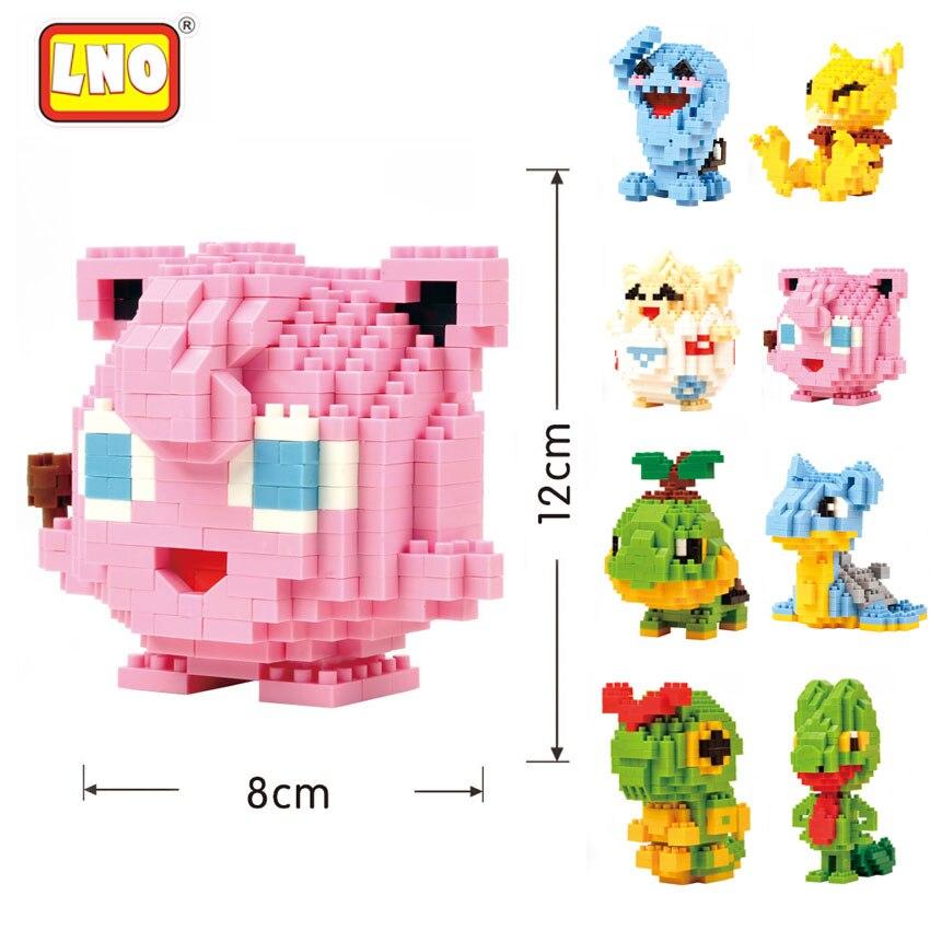 LNO New Arrival Toys Hobbies Nanoblock Anime Figures Toys 3D Cartoon Model Building Brick Micro Animals Educational Toys For Kid