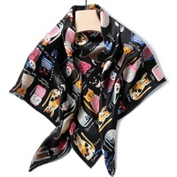 100% Twill Silk Square Scarf Women Large Size Shawls Fashion Stoles Pashmina Luxury Brand Design Handrolled Hems 3 Colors
