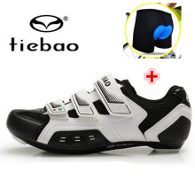 Tiebao Road Cycling Shoes Ultralight Carbon Fiber Sole add underwear Road Bike Shoes Auto-Lock Bicycle Shoes Sapatilha Ciclismo